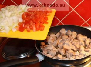 рецепт приготовления бессолевого блюда, свинина тушеная с овощами
