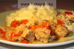 бессолевая диета, рецепт свинины, тушеной с овощами