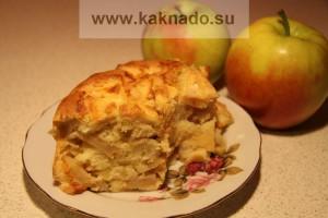 рецепт десерта для бессолевой диеты, шарлотка
