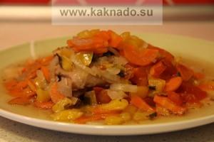 бессолевая диета, курица с овощами без соли