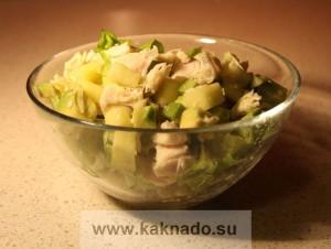 бессолевая диета, рецепт салата без соли