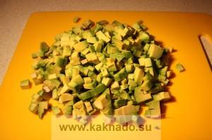 рецепт бессолевого салата с авокадо