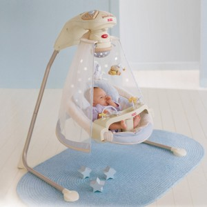 электронные качели для новорожденного
