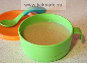 как приготовить первый суп для ребенка