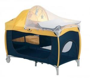 кровать-манеж с москитной сеткой