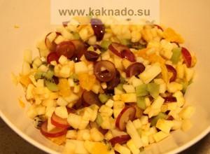 фруктово-творожный салат для беременных