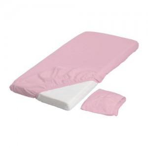 трикотажная простыня на резинке в детскую кроватку