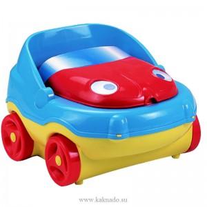 горшок автомобиль на колесиках