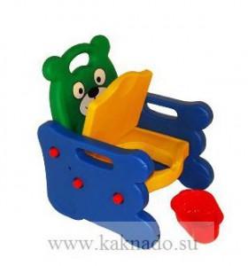 горшок стульчик с крышкой и подлокотниками
