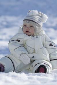 теплый слитный комбинезон для ребенка до года