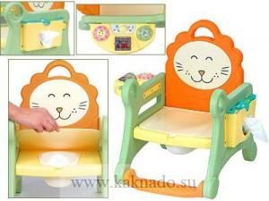 детский горшок с игрушкой и отделением для салфеток