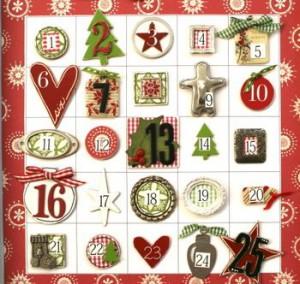 рождественский календарь фотографии