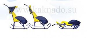 санки-коляска складываются