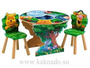 детский стульчик и стол с емкостью для игрушек