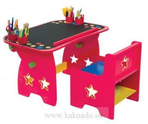стол и стульчик розовые