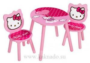 стол и стул хелло китти для девочки