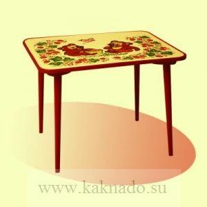 детский стол росписанный под хохлому