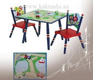 детские стол и стульчик для мальчика