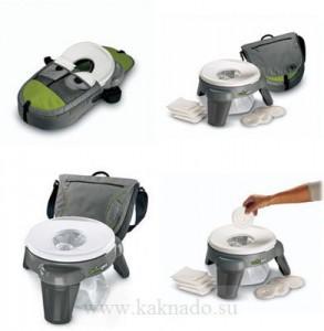 детский складывающийся дорожный горшок, travel potty с адсорбентом