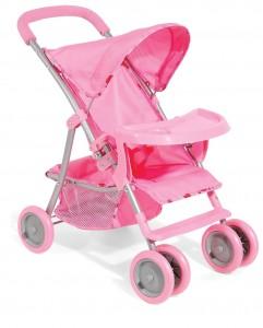 розовая коляска для кукол