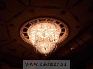 люстра в зрительном зале малого театра