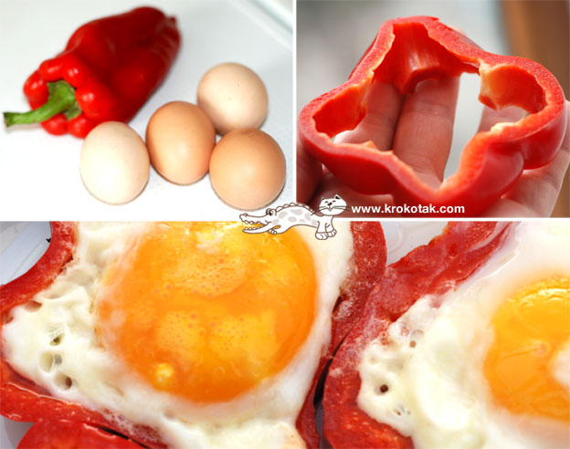 как приготовить необычную яичницу на завтрак, рецепты необычной яичницы, детские рецепты, идеи оформления