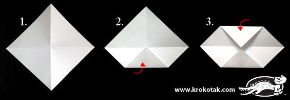 поделки с ребенком, мигающий глаз из оригами