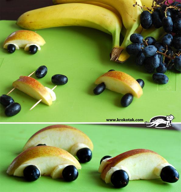 забавные рецепты десертов для детей, как съесть фрукты весело