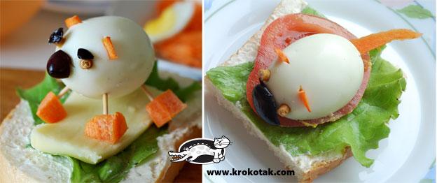 необычные идеи детских завтраков и салатов, оригинальное украшение детских блюд