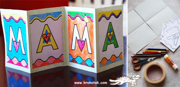поделка с ребенком на 8 марта или день рождения мамы, открытка своими руками