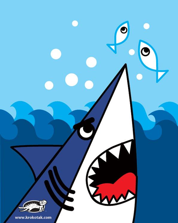 как научить ребенка рисовать акулу
