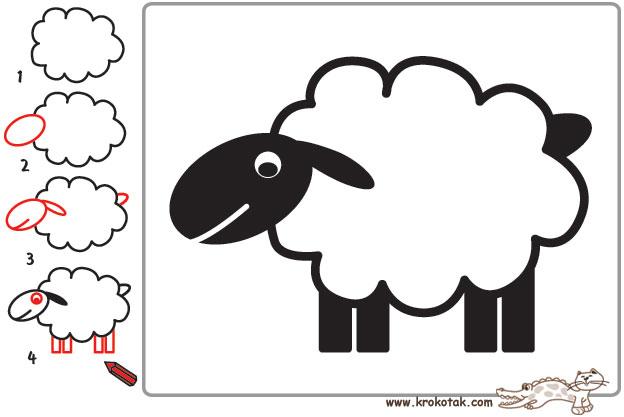 мастер класс как нарисовать овечку или барашка, фото