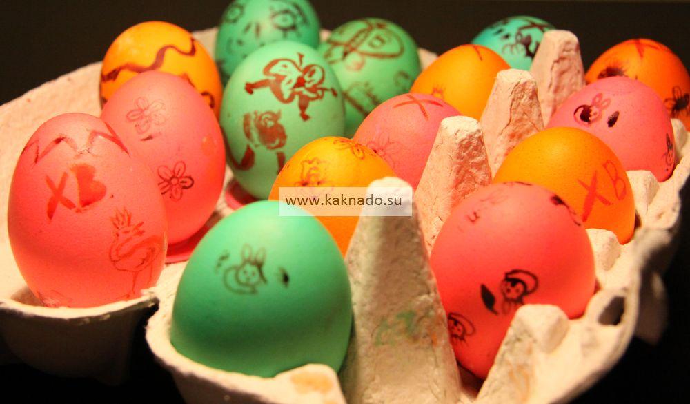 Подготовка к Пасхе, как раскрасить яйца на Пасху с маленьким ребенком