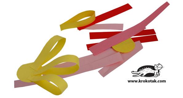 как сделать цветы из бумаги, поделки вместе с ребенком, фото
