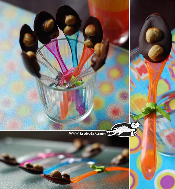шоколадные ложки, отличная идея оформления детского праздника
