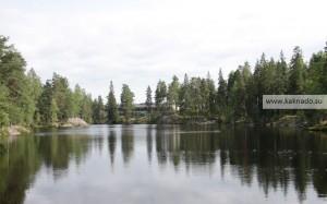 отель корпилампи в эспоо, фото озера и отеля