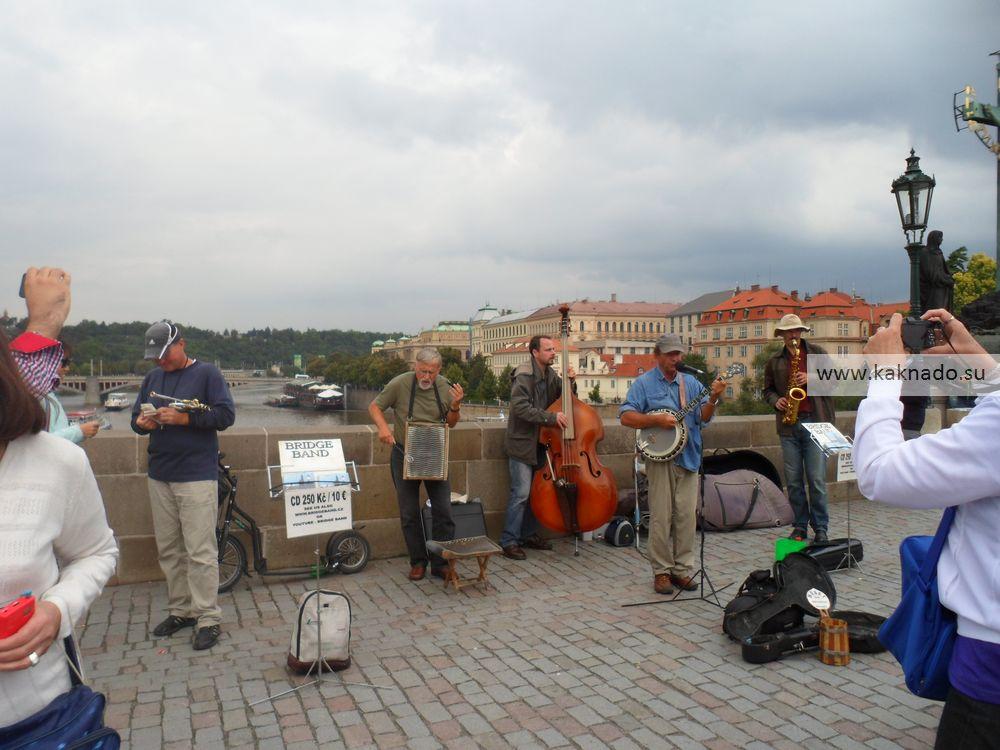 Местные колоритные бэнды - очень распространенное явление в Праге