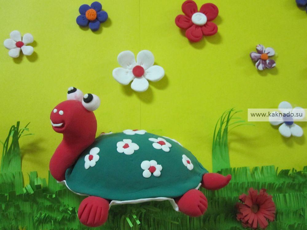идеи зимних поделок из пластилина, фотографии, фото, черепаха из пластилина