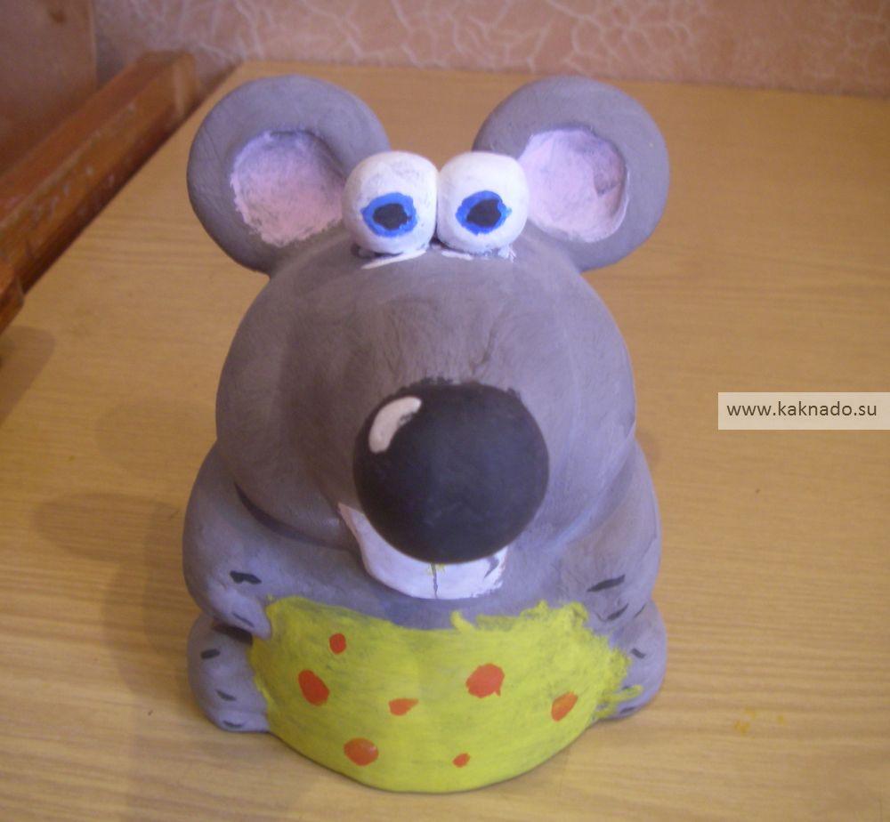 как сделать мышку из пластилина