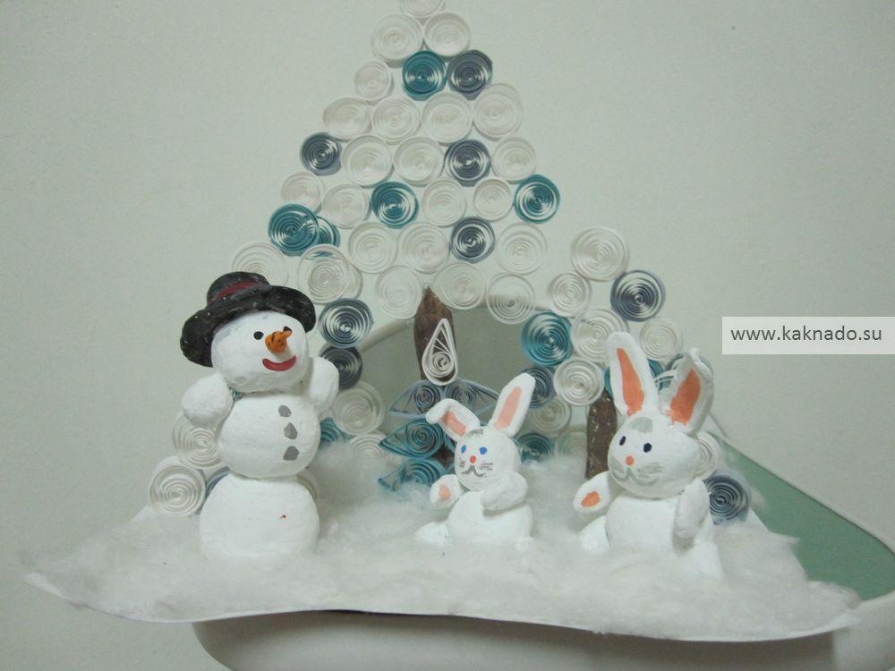 идеи зимних поделок из пластилина, фотографии, фото