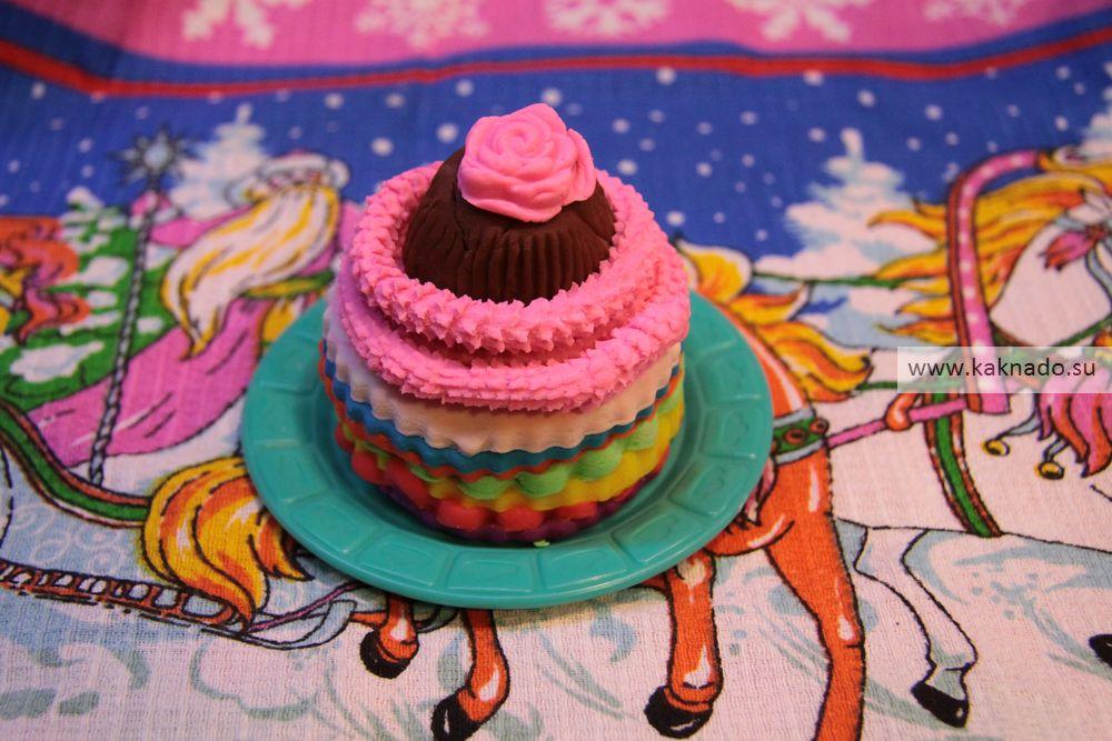 тортик из пластилина, фото