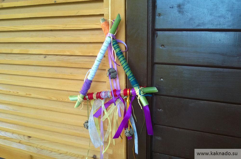 Ловушка для ветра - отработка множества навыков у ребенка (обмотать, завязать, соединить)