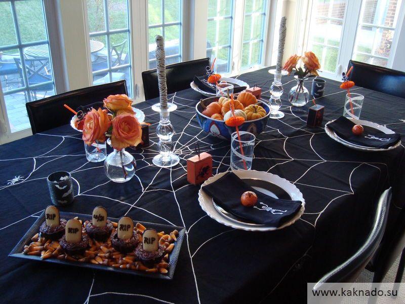 Идеи оформления стола на хеллоуин 01