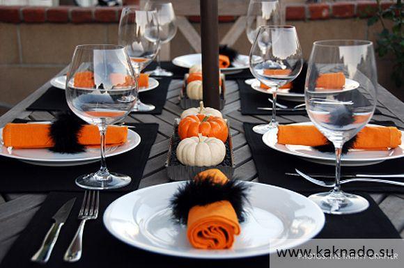 Идеи оформления стола на хеллоуин 04