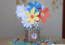 "Поделка ""Вазочка и цветы"" на 8 марта своими руками"