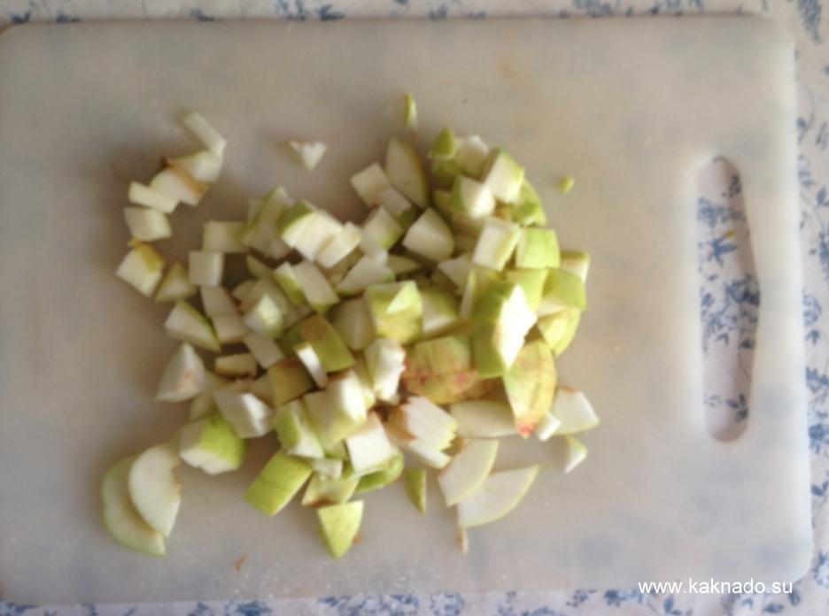 порезаные яблоки