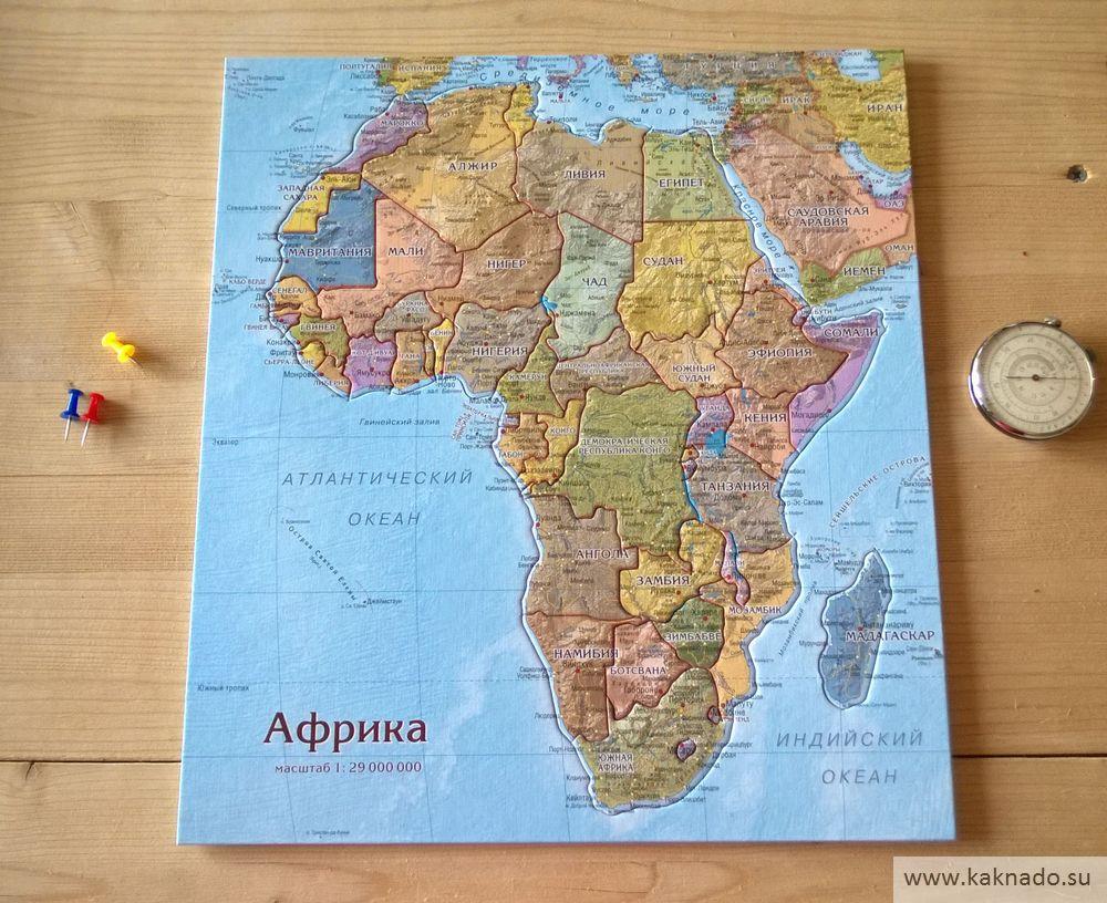 африка карта-пазл