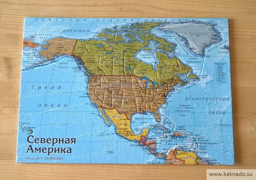 северная америка карта-пазл