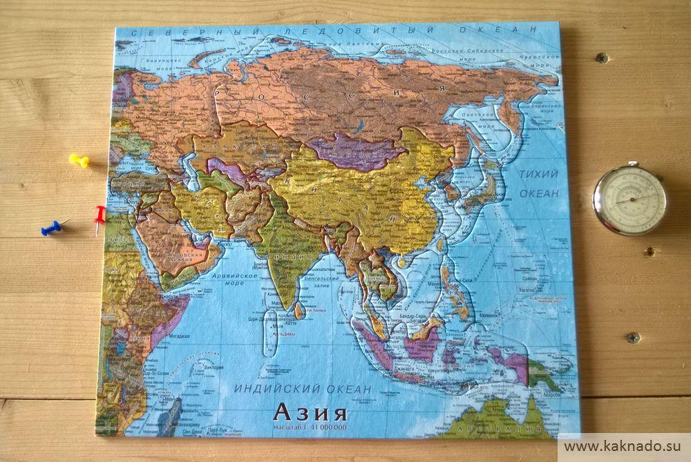 азия карта-пазл