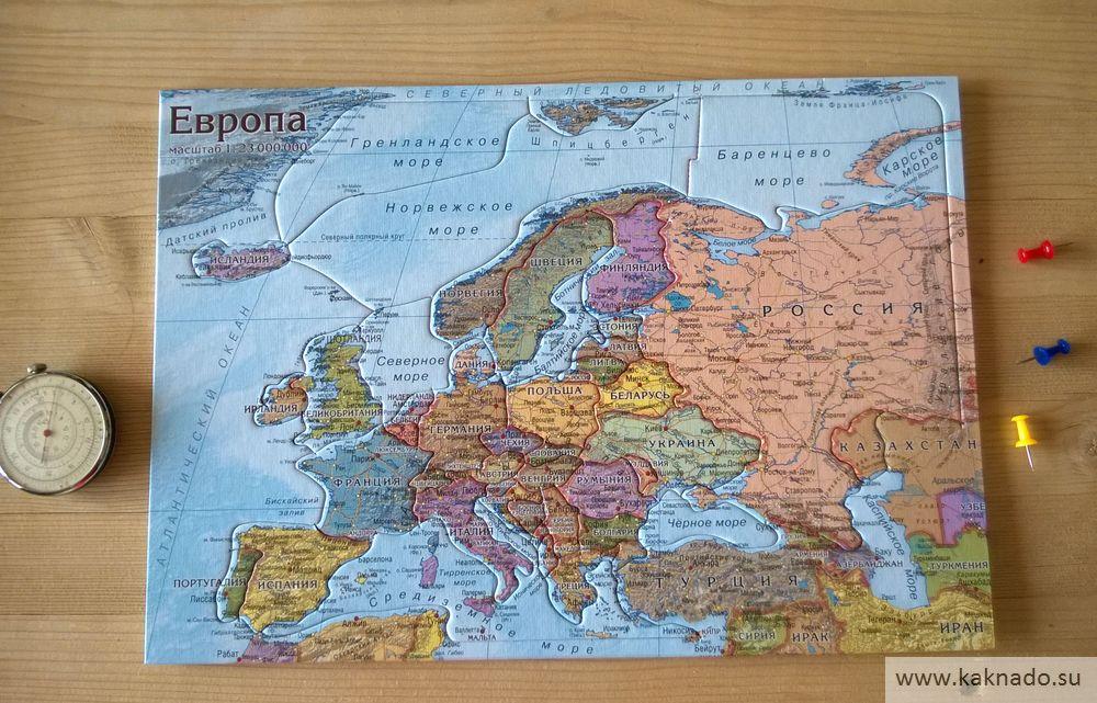 европа картон карта-пазл